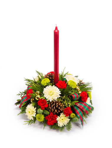 Candlelit Christmas Centerpiece 030A61-6401