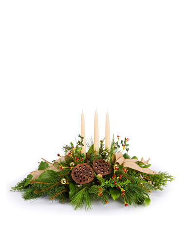 Woodland Holiday Centerpiece 030A71-6401