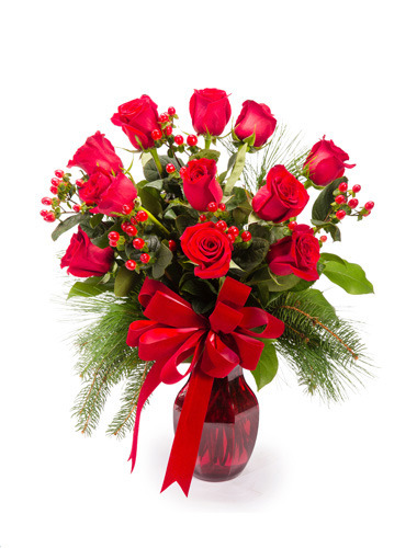 Yuletide Splendor Roses Bouquet