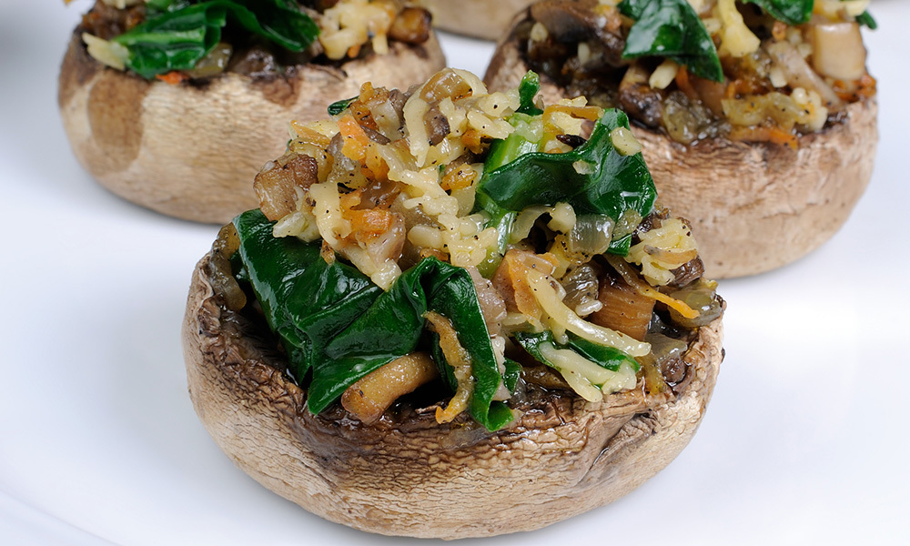 Spinach Parmesan Mushrooms 062A032-6830