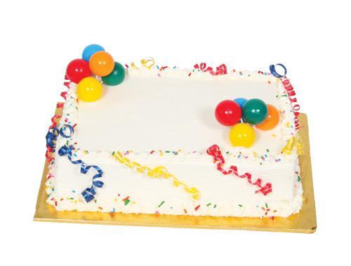 ¼ Sheet Cake 054A004-6707