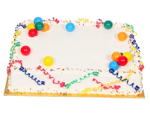 ½ Sheet Cake 054A005-6708