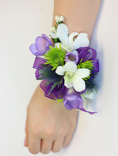 Orchid & Freesia Wristlet