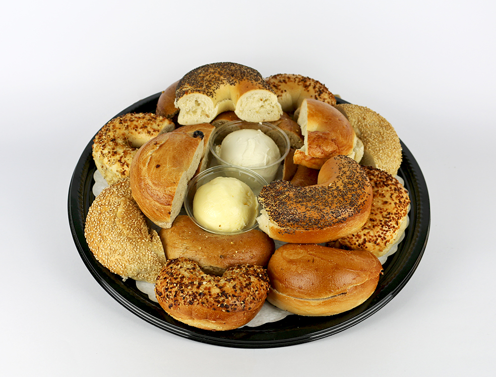 Bagel Tray with Cream Cheese and Whipped Butter 054A556-6750