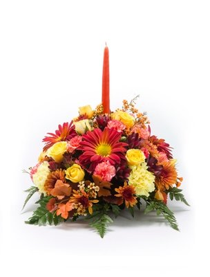 Family Gathering Thanksgiving Centerpiece