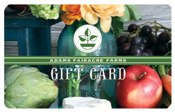 Adams Gift Card (Still Life)