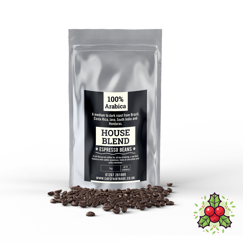 Italian House Blend Espresso Beans (6 X 1kg)