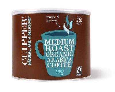 Clipper Org Fairtrade Freeze Dried Coffee Tins (4 X 500g)