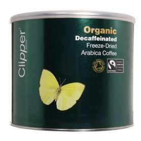 Clipper Org Decaff Fairtrade Freeze Dried Coffee Tins (4 X 500g)