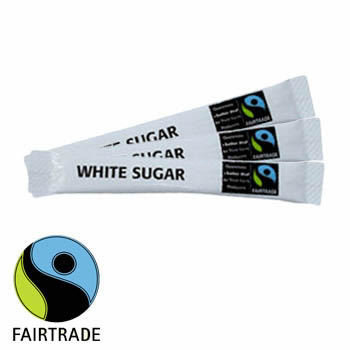 Fairtrade White Sugar Sticks (1 X 1000)
