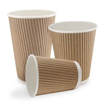 8oz Kraft Double Walled Paper Cups (1 X 500)