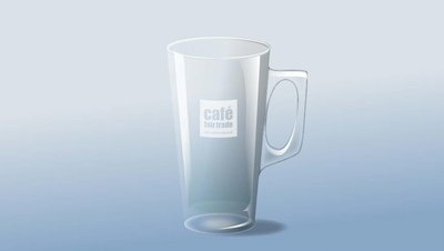 Latte Glass Tall Conig 12oz  (case size 12 x 1 ) £2.31 each