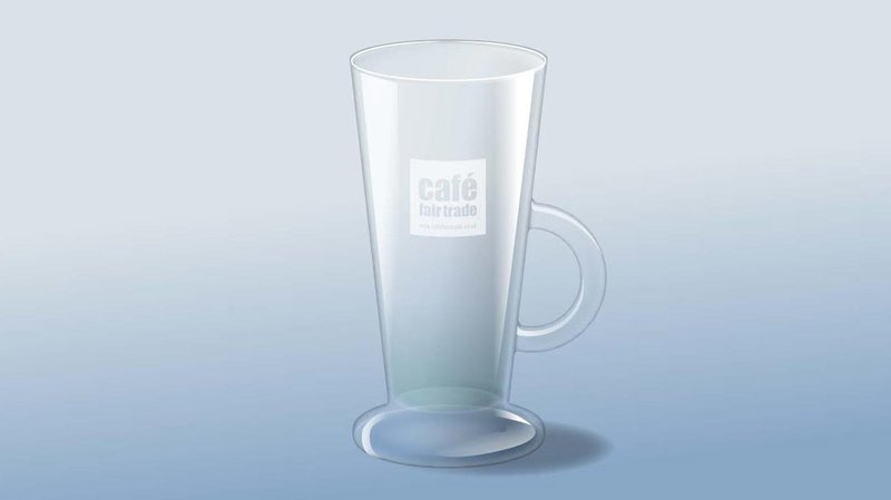 Latte Glass Tall V Shape 9oz    (case size 12 x 1 ) £1.90 each