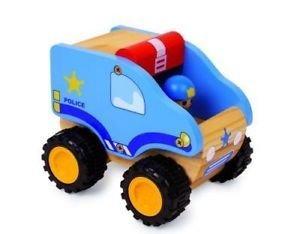 Gioco educativo - giocattolo in legno - AUTO DELLA POLIZIA