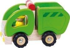 Gioco educativo - giocattolo in legno - Camion dei rifiuti