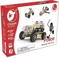 POLICE CAR IN LEGNO CIassic World
