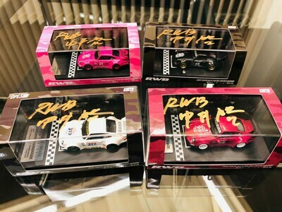 RWB 1/64 model car idlers (4Color Set) With Signed by Nakai-San limited 24 official
