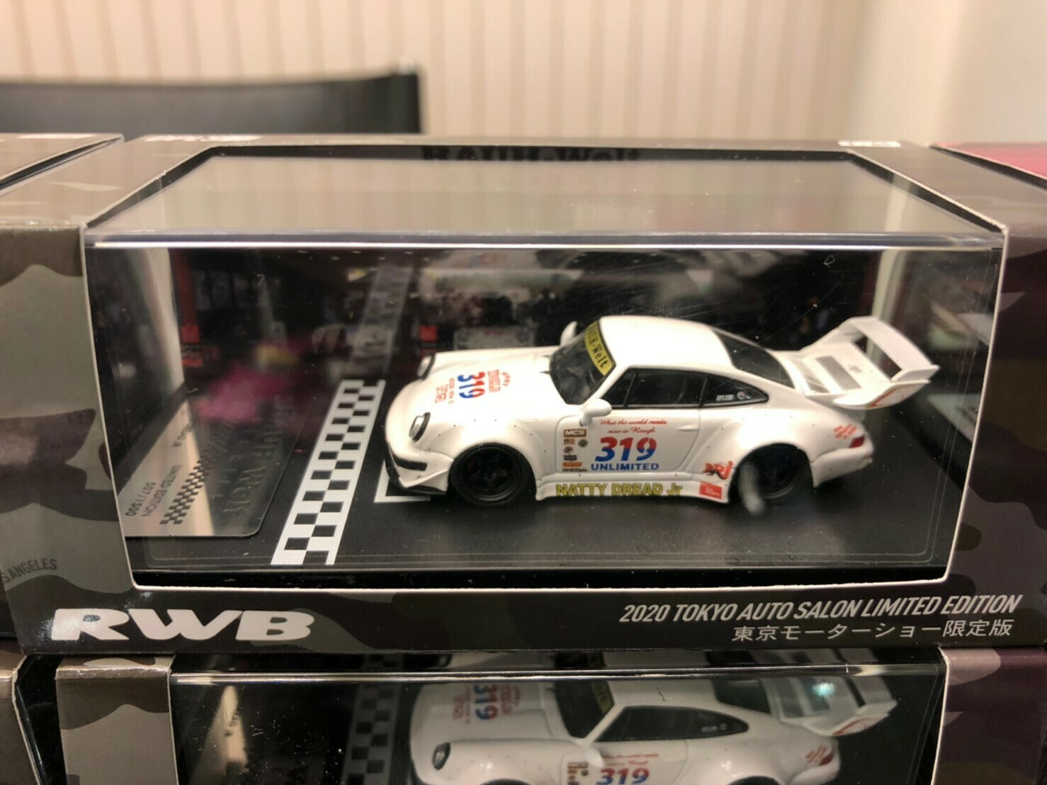 RWB 1/64 model car idlers (White) 2020 Tokyo Auto Salon Limited Edition
