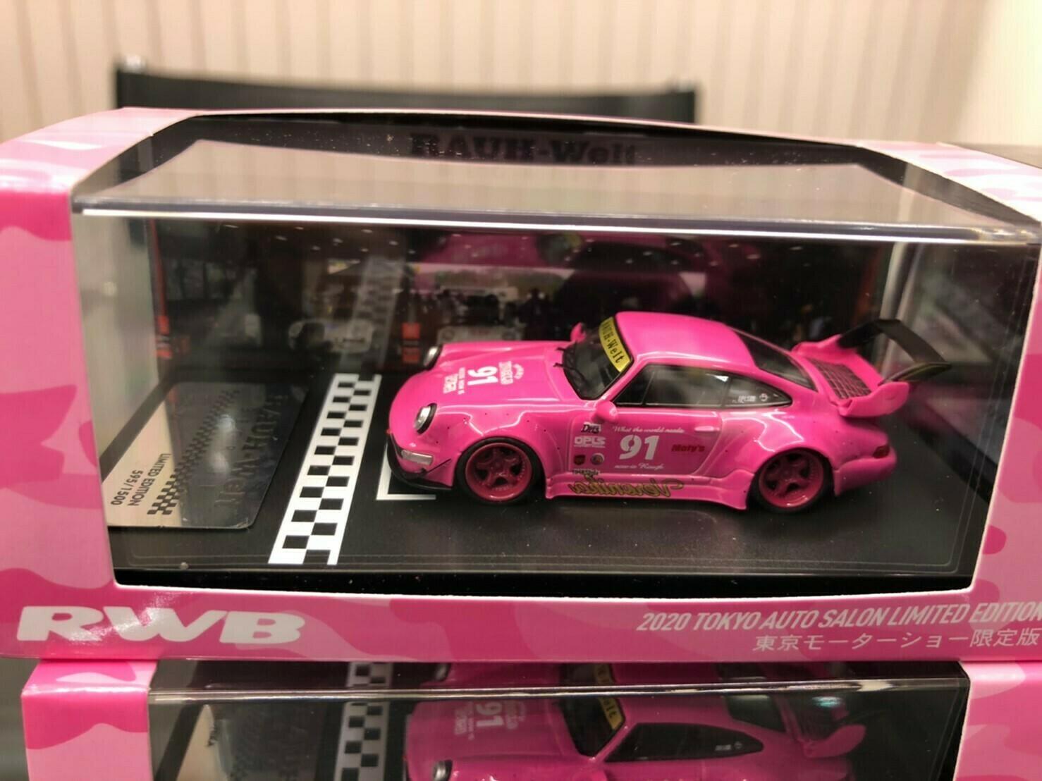 RWB 1/64 model car idlers (Pink) 2020 Tokyo Auto Salon Limited Edition