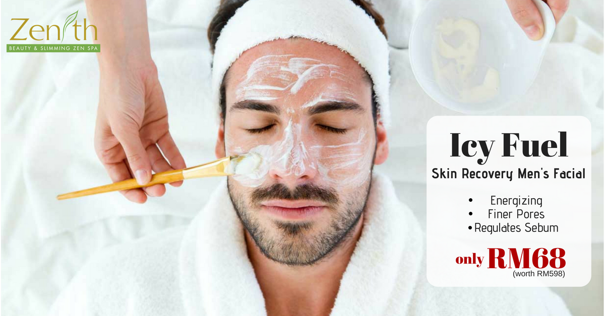 Men's Facial: Icy Fuel Recovery Intensive Treatment (worth RM498)