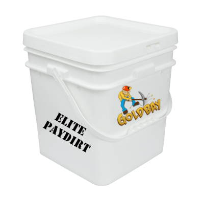 Goldbay Elite 1 gallon paydirt with 25 grams gold