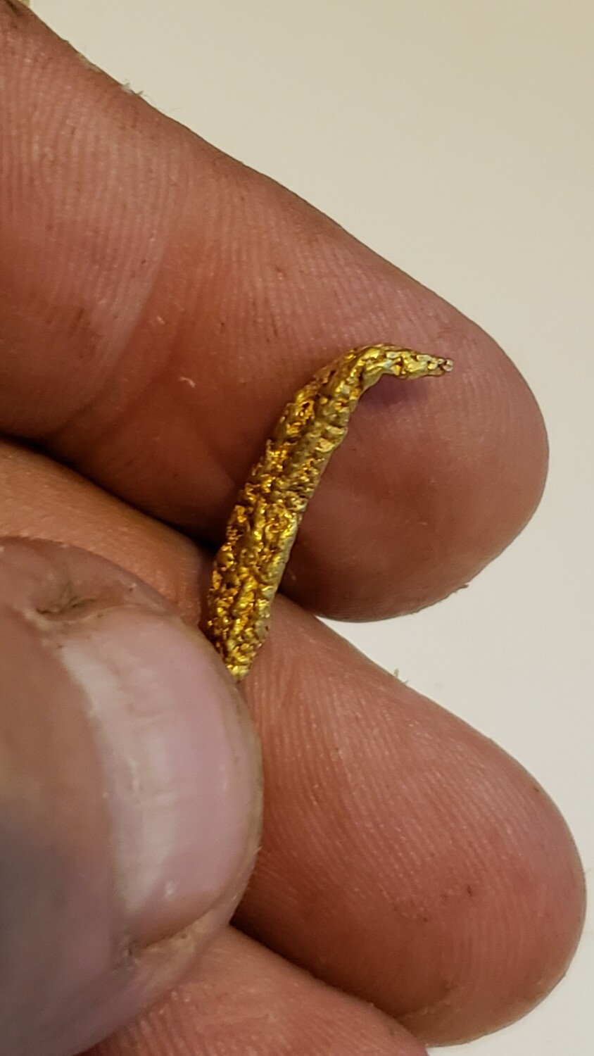 Very rare 1.30 gram wire gold specimen