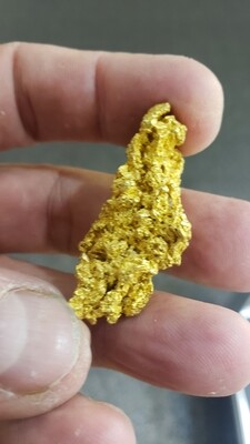 Coarse 48.2 gram crystalline Yukon gold nugget