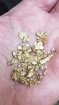 Black Friday - 1/2 ounce #10 to #4 mesh mixed gold