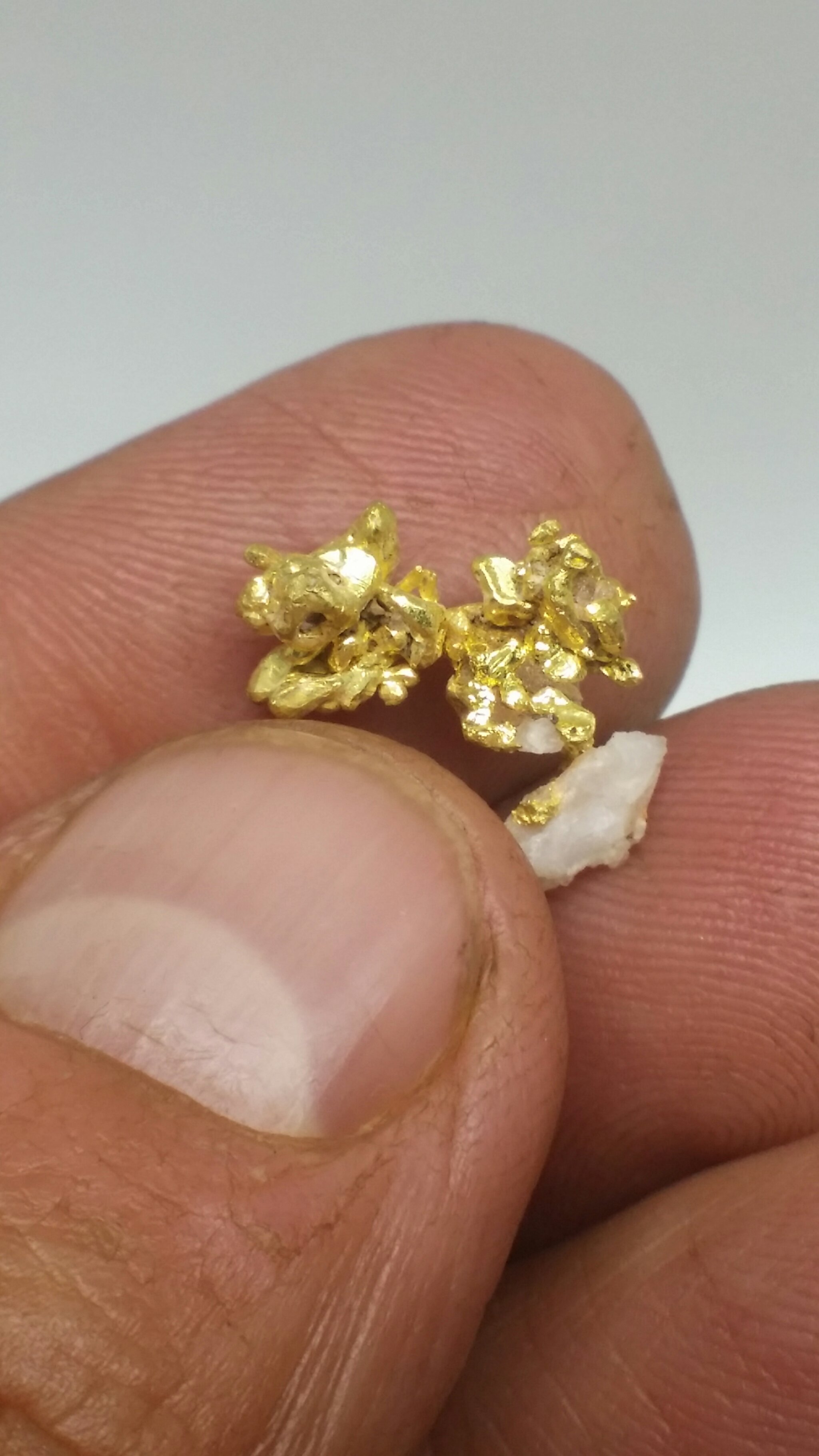 2.33 gram crystallized gold cluster 00016
