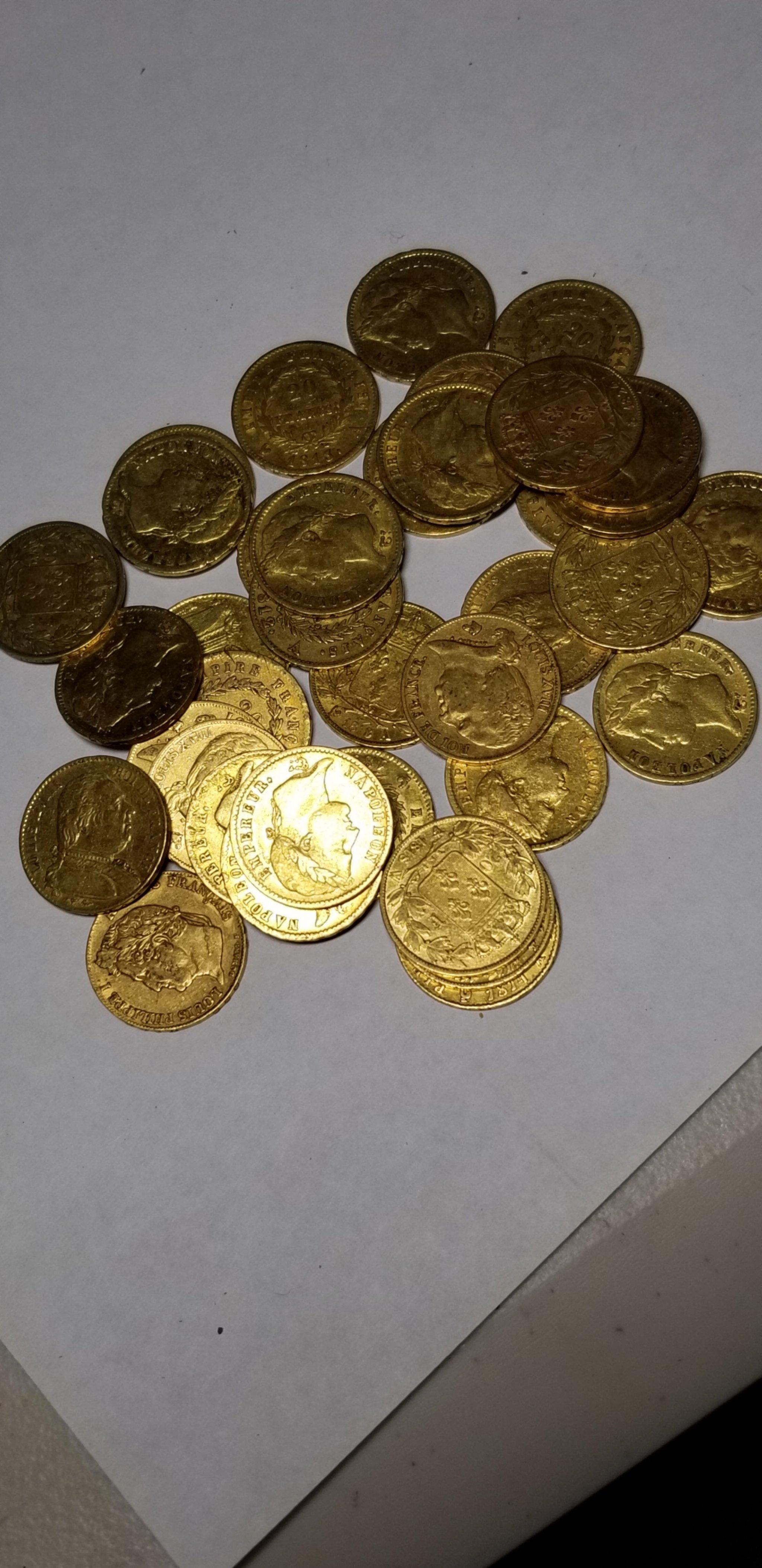 20 franc gold coin - random date 00175
