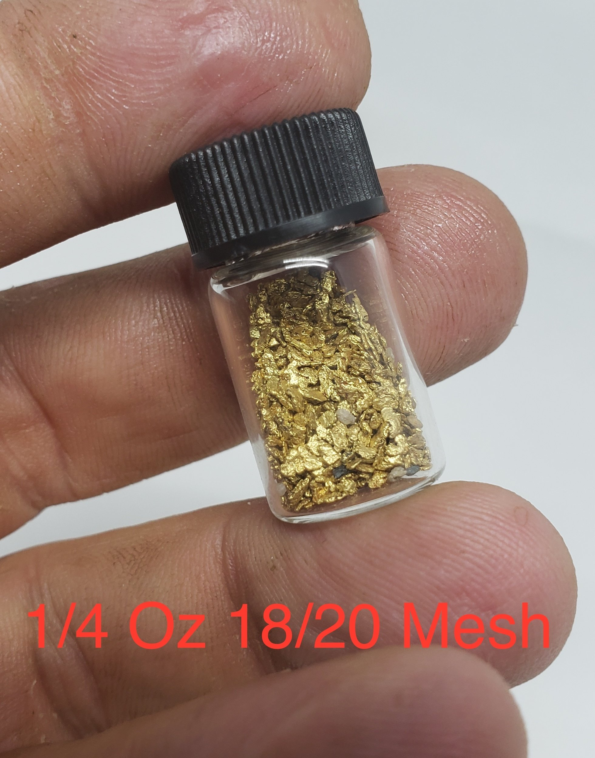 #18 Mesh Gold Nuggets - 1 gram of #18 gold 00005