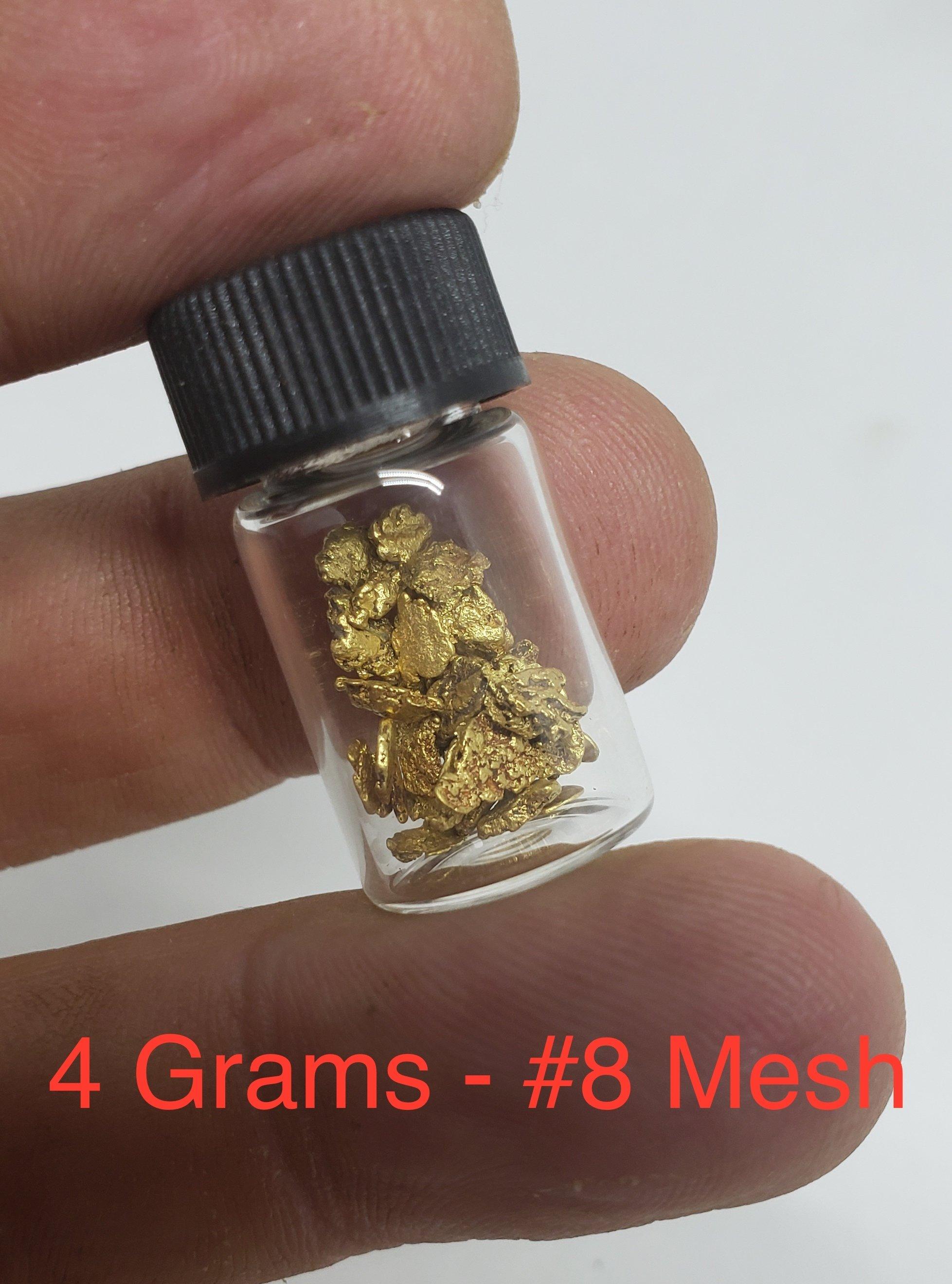 4 grams #8 mesh