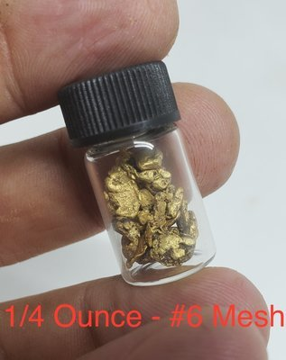 #6 Mesh Gold Nuggets - 1 gram of #6 gold