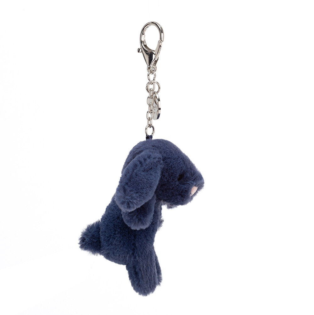 Navy Bashful Bunny Bag Charm
