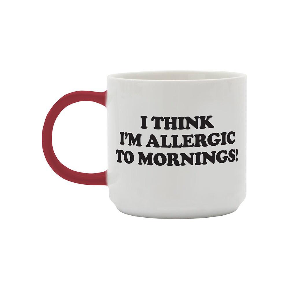 Snoopy Mug 'I Think I'm Allergic To Mornings'