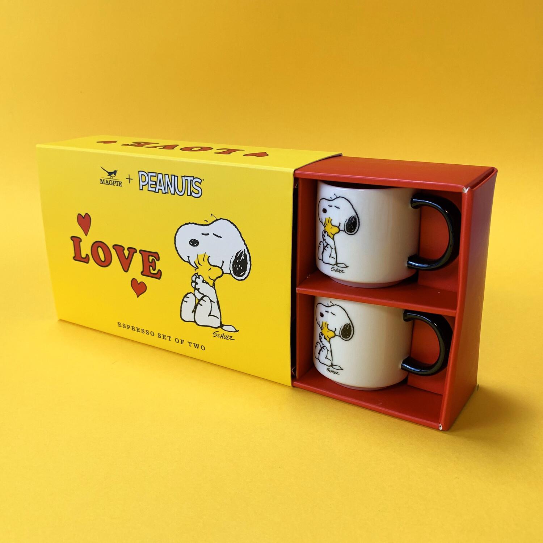 Snoopy Espresso Cup Set 'love'