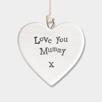 Porcelain heart - Love you mummy