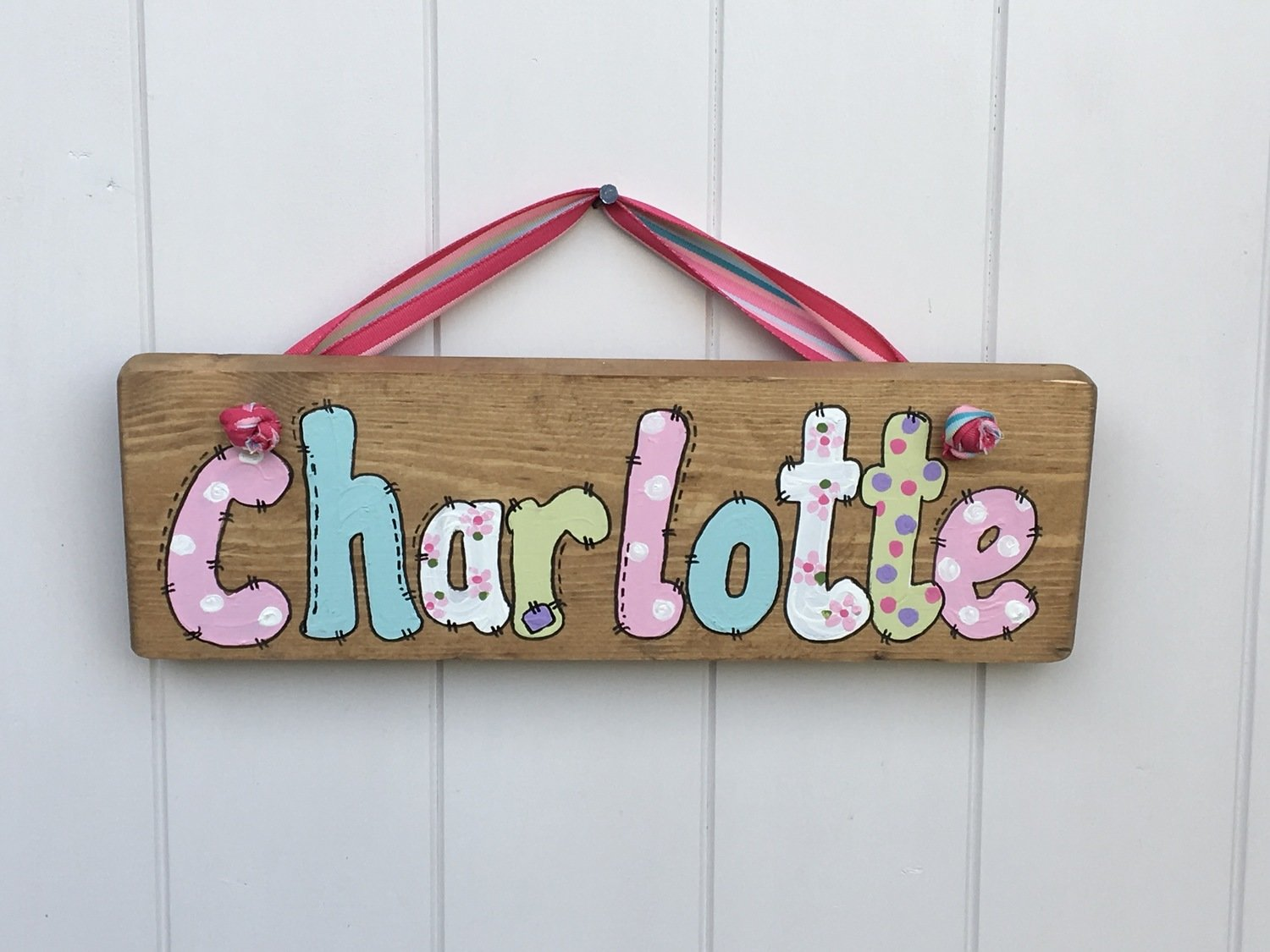 Girls Name Plaque (over 5 letters)