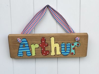 Boys Name Plaque (over 5 letters)