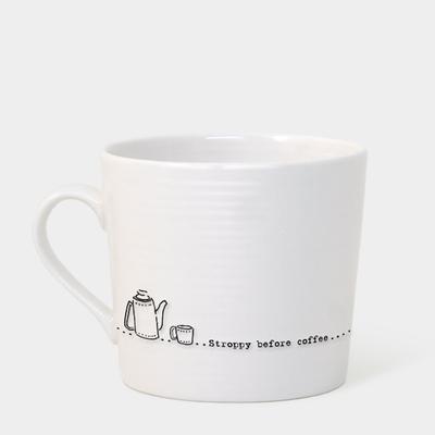 Boxed Wobbly Mug - 'Stroppy before coffee'