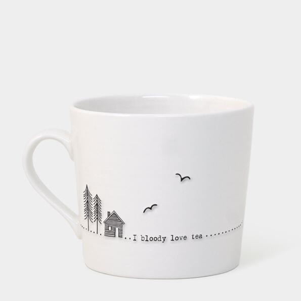 Boxed wobbly mug - 'i bloody love tea'