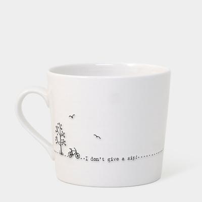 Boxed wobbly mug - 'I don't give a sip'