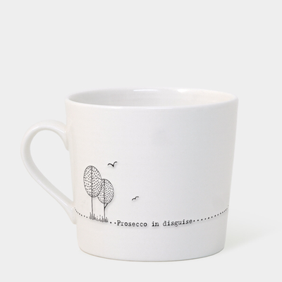 Boxed wobbly mug - 'Prosecco in disguise'