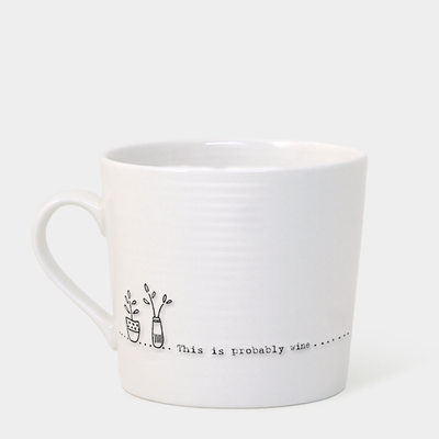 Boxed wobbly mug - 'this is probably wine'
