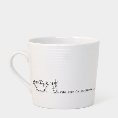 Boxed wobbly mug - 'dunk here for happiness'