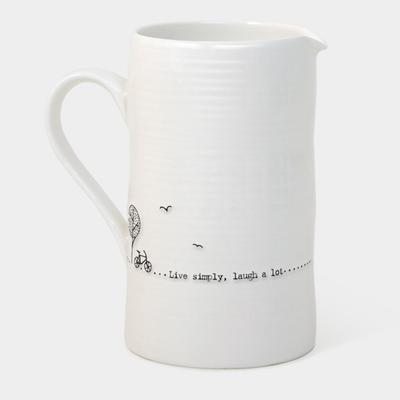 Large boxed jug - 'live simply laugh alot'
