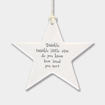 Star - 'twinkle twinkle little star, do you know how loved you are?'