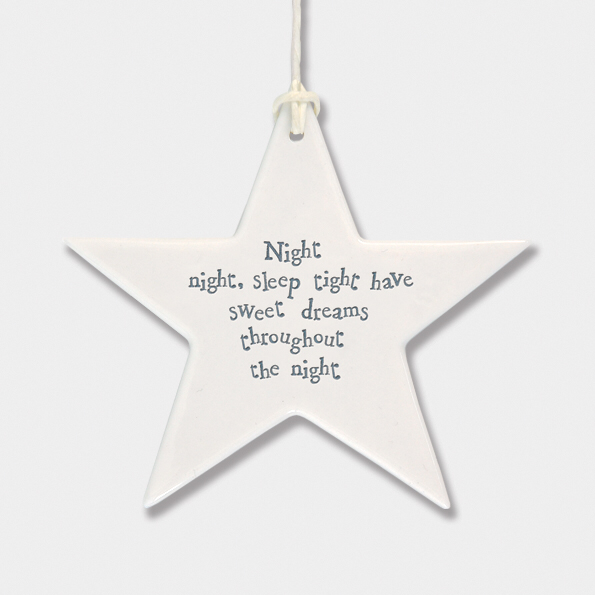 Star - 'night night, sleep tight have sweet dreams throughout the night'