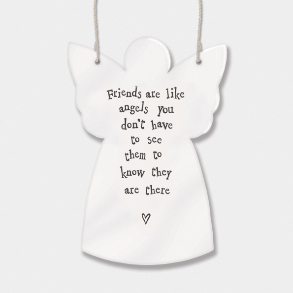 Guardian angel - 'friends are like angels, you don't have to see them to know they are there'