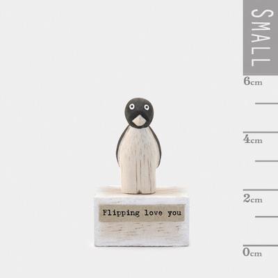Penguin block flipping love you